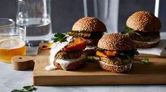quinoa burgers with roasted pumpkin