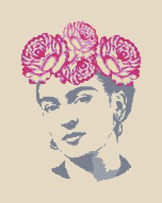 Frida Cross Stitch Pattern Frida Kahlo xstitch Modern embroidery design includes: ◊ Color image of the finished embroidery pattern ◊ List of DMC colors ◊… Counted Cross Stitch Patterns, Cross Stitch Charts, Cross Stitch Designs, Cross Stitch Embroidery, Learn Embroidery, Modern Embroidery, Embroidery Patterns, Simple Cross Stitch, Modern Cross Stitch