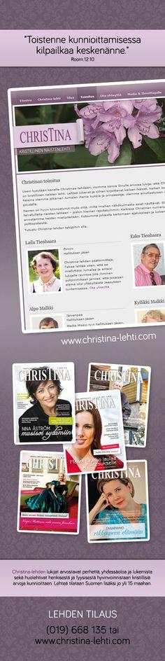Website by Maijamedia. Kristilliset lehdet, nettilehdet, kristilliset arvot, naistenlehdet, suomalaiset naistenlehdet. http://pinterest.com/maijamedia/websites-layouts