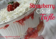Strawberry Cloud Trifle- Not Quite Donna Reed