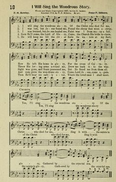 I Will Sing the Wondrous Story - Hymnary.org