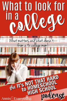 How do you know what to look for in a college? What factors really do matter, and which just aren't that important? Listen to find out! Homeschool High School, Homeschooling, College Search, Do You Know What, Factors, Knowing You, How To Find Out, That Look, Encouragement