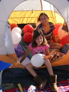 Enjoying the tents during Camping Under the Stars in Marana, AZ