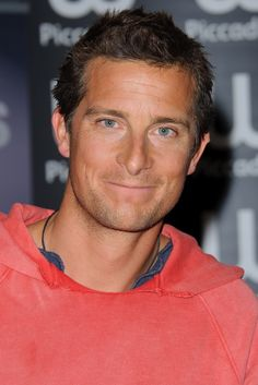Bear Grylls. Look at that smile...