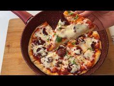 EVDE 5 DAKİKADA HAZIRLAYABİLECEĞİNİZ TAVADA NEFİSS 🍕 PİZZA😍 - YouTube Hawaiian Pizza, Pizza Recipes, Vegetable Pizza, Mashed Potatoes, Baking, Ethnic Recipes, Food, Gourmet, Amigurumi