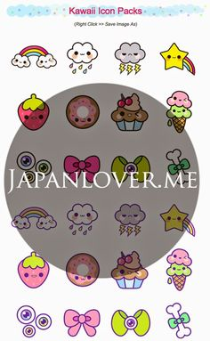 FREE printable kawaii icons and stickers