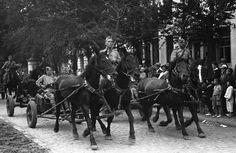 Soviet military parade in Harbin