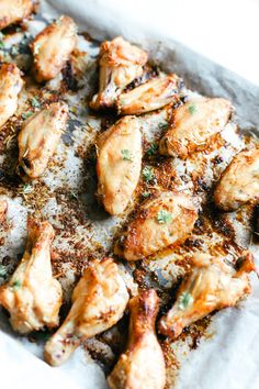 Baked Dry Rub Chicken Wings are low carb and full of flavour. An easy dinner to make, simply pair it with your favourite side salad or a dip and enjoy! Dry Rub Chicken Wings, Baked Chicken Wings, Chicken Wing Recipes, Crispy Chicken, Chicken Dips, Rub Recipes, Healthy Recipes, Smoker Recipes, Milk Recipes