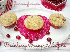 Valentine's Day Breakfast Cranberry Orange Muffins Recipe