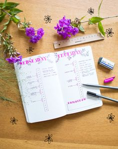 Daily Log with time schedule. #bulletjournal #dailylog #dailyspread #dailysetup #timeboxing