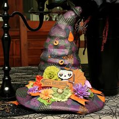 Fright Delight Halloween Witch Hat by Designer Juliana Michaels - Scrapbook.com