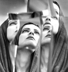 David SEIDNER :: For Azzédine Alaïa, model Betty Largo, 1986   #mirror