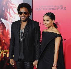 Pin for Later: 28 Pictures That Prove Zoë Kravitz Had No Choice but to Be Ridiculously Good Looking  Zoë was on hand to support her dad at the LA premiere of The Hunger Games: Catching Fire in November 2013.