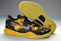 size 40 422b4 a531b Nike Kobe 8 System Playoff Black Yellow, Price   89.00 - Air Jordan Shoes,  Michael Jordan Shoes. Basketball ...