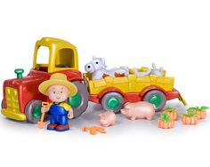 Caillou as a farmer with a cute tractor, animals, and pumpkins. (Some of the farming equipment is very small but wouldn't be missed if you got rid of it.) - $17