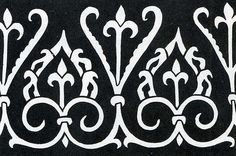 simplified image of the embroidered border of roger of sicily's coronation tunic