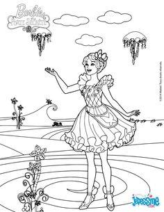 coloriage du film barbie et la porte secrète, romy et nori