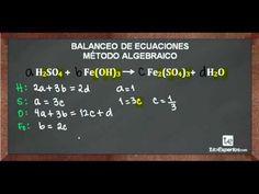 Balanceo de Ecuaciones Método Algebraico No 4 - YouTube