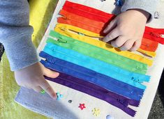 I love the rainbow and colours!! Full Quiet Time Book by MonoNoAvare on Etsy