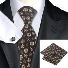 Подарочный набор коричневый в цветок 02 - купить в Киеве и Украине по недорогой цене, интернет-магазин