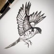 dotwork bird - Google Search