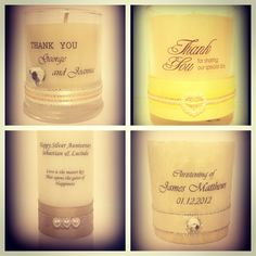 Bonbonniere wedding gifts. Engagement gifts and anniversary gifts. Custom made Favours for all occasions. Chama Candles. Be Inspired Xx