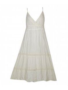 Off White Gauze Maxi Dress