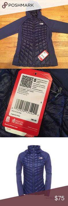 north face thermalball hybrid hoodie -Retails $180 north face women's thermalball hybrid hoodie Patriot Blue - Small - Retails $180- New W/ Tags North Face Jackets & Coats Puffers