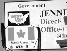 Gee, this American lady speaks Canadian!