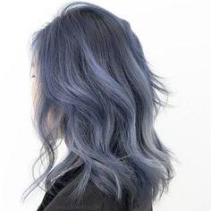 Text/Email for Appointments, Training, or Questions MIJU VAN salon Los Angeles Blue Brown Hair, Hair Color Blue, Blue Ash, Balayage Hair Ash, Lavender Hair, Aesthetic Hair, Dream Hair, Grunge Hair, Hair Inspo