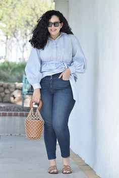 The Spring Top You Need to Try ASAP via @GirlWithCurves #style #fashion #outfits