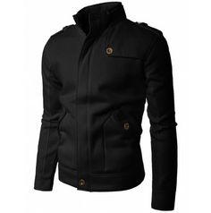 Mens Shoulder strap Zipup jacket