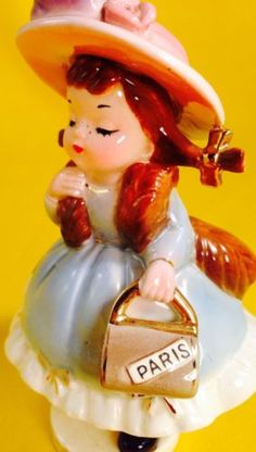 Josef-Originals-Thursday-Week-Day-Girl-Figurine-Vintage-Estate-Rare-Sale