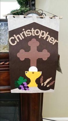 First communion banner.