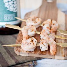 Roasted Garlic Beer Butter Shrimp