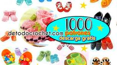 1000 patrones de patucos, pantuflas y guantes crochet / PDF Graphic Patterns, Weaving Patterns, Knitted Gloves, Free Downloads, Free Pattern, Socks
