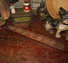 Primitive Antique Vtg Wood Carved Candy Butter Press Stamp Maple Sugar Mold | eBay