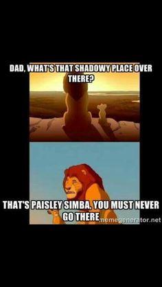 Come on Paisley.......Can ye no take a joke