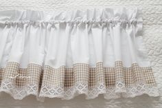 Cafe Curtains, Curtains With Blinds, Kitchen Curtains, Drapes Curtains, Valances, Cortinas Country, Rideaux Design, Shabby Look, Shabby Chic Kitchen