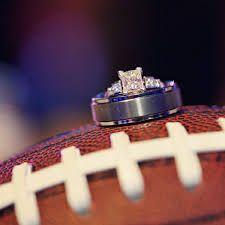 Football and rings  #footballwedding #nflwedding #sportswedding