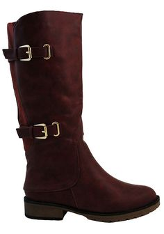 Red Double Buckle Allen Boot