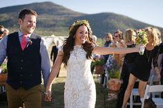Snow Mountain Ranch offers stunning mountain ceremony sites, a variety of reception options set up the way you choose, guest lodging, and over five thousand acres to play on!