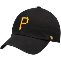 newest 70cbf 2c099 Pittsburgh Pirates  47 Youth Clean Up Adjustable Hat - Black