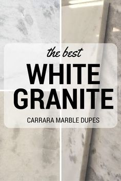 The best white granites that look like Carrara Marble