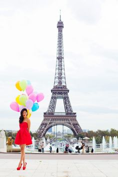 LOCATION: PARIS Asos Red Bow Dress / Jennifer Zeuner Necklace / Charlotte Olympia Heels