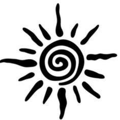 "Check out ""Jackin Brothers Live at Sunshine cafe by Радио-рубка 142800 on Mixcloud Stencil Patterns, Stencil Designs, Sun Tattoo Designs, Horoscope Tattoos, Glue Art, Inka, Native American Symbols, Tatuagem Old School, Sun Tattoos"