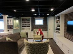 Low Basement Ceilings Design, Pictures, Remodel, Decor and Ideas - page 11