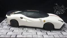 Ferrari by GoshCakes Car Cakes For Boys, Marshmallow Cake, Gravity Defying Cake, New Ferrari, Sculpted Cakes, Fashion Cakes, Boy Birthday, Birthday Cakes, Clay Charms
