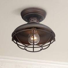 "Franklin Park Metal Cage 8 1/2"" Wide Outdoor Ceiling Light - #2T222 | Lamps Plus"