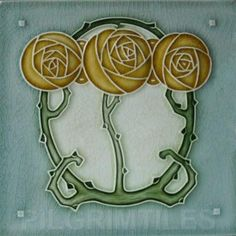 Mackintosh Purple Rose Art Nouveau / Arts & Crafts Tile Art ...